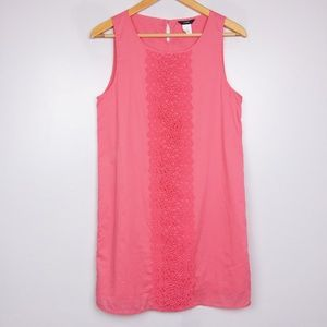 J. Crew Pink Embroidered Sleeveless Dress